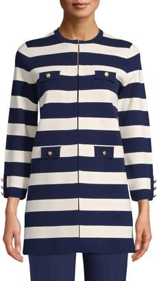 Anne Klein Long Stripe Jacket