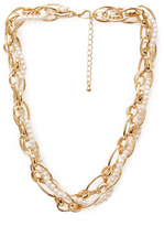 Forever 21 Remixed Pearlescent Necklace