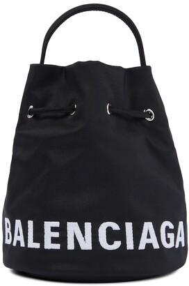 Balenciaga Wheel XS canvas bucket bag