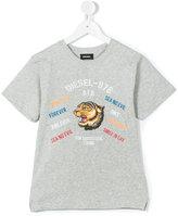 Diesel tiger print T-shirt - kids - Cotton - 6 yrs
