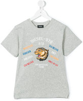 Diesel tiger print T-shirt - kids - Cotton - 8 yrs