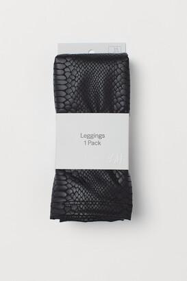 H&M Snakeskin-print leggings