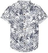 Appaman Kids Pattern Shirt (Toddler/Little Kids/Big Kids) (Navy Areca) Boy's Short Sleeve Button Up