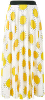 Christopher Kane sun print skirt - women - Silk/Polyester/Acetate - 40