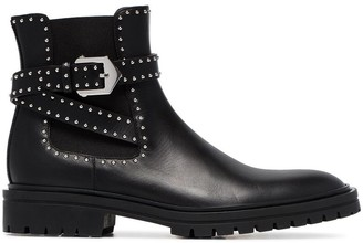 Givenchy Black Elegant studded leather ankle boots