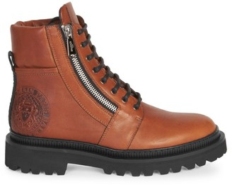 Balmain Ranger Embossed Leather Army Boots