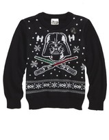 JEM Boy's Star Wars(TM) - Darth Vader Musical Holiday Sweater