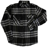 Brixton Bowery Long Sleeve Flannel Shirt Grey Black