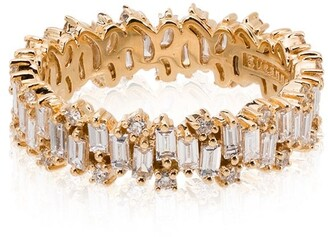 Suzanne Kalan 18kt Yellow Gold Baguette Diamond Ring