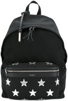 Saint Laurent City star patch backpack - men - Cotton/Leather - One Size