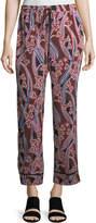 Trina Turk Berta Graphic-Print Silk Lounge Pants