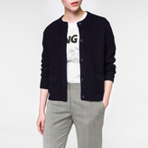 Paul Smith Women's Navy Garter-Stitched Cotton Cardigan