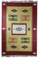 Novica Handcrafted Cotton 'Coral Celebration' Dhurrie Rug (4x6) (India)