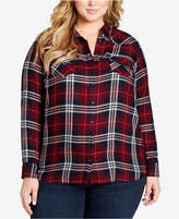 Jessica Simpson Plus Size Plaid Shirt