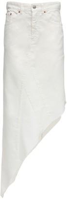 MM6 MAISON MARGIELA Asymmetric Cotton Denim Midi Skirt