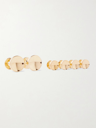 Alice Made This Elliot Gold-Plated Cufflinks And Shirt Stud Set