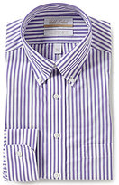 Roundtree & Yorke Gold Label Non-Iron Regular Full-Fit Button-Down Collar Striped Dress Shirt