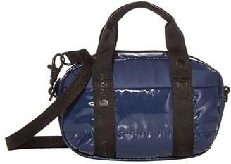 Le Sport Sac Amanda Micro Mini Crossbody (Navy Patent) Handbags
