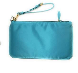 Prada Jacquard Cosmetic Case Logo Turquoise