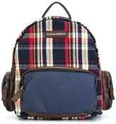 DSQUARED2 plaid backpack