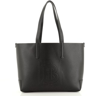 Burberry TB Shopping Tote Leather Large