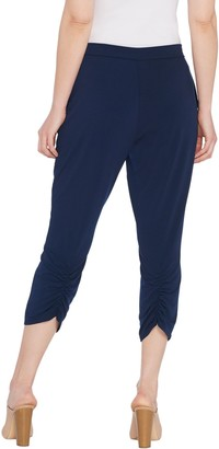 Susan Graver Every Day by Petite Liquid Knit Crop Pants