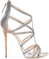 Giuseppe Zanotti Design snake effect cut-out sandals - women - Leather - 39.5