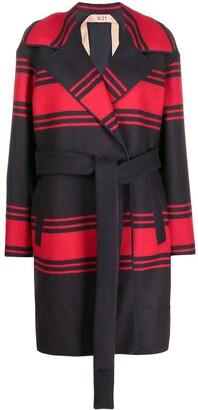 No.21 Loose-Fit Striped Coat