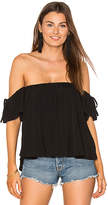 Blq Basiq Off Shoulder Baby Doll Top in Black. - size 0 (XS/S) (also in )