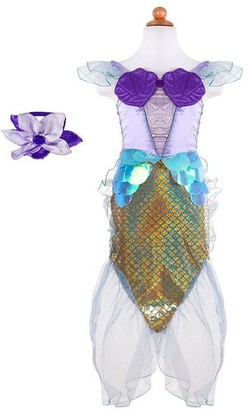 Great Pretenders Dress-Up Costume Dress with Headband Mermaid Blue Lilac Size 5 to 6
