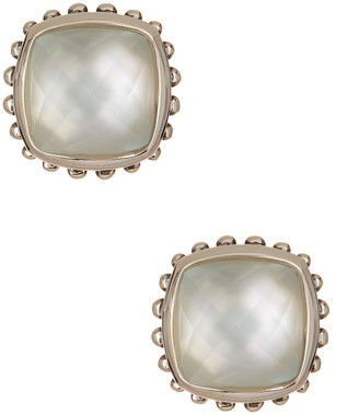 Lagos Sterling Silver Mother of Pearl Doublet Stud Earrings