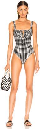 Solid & Striped Ellery Swimsuit in Black Gingham | FWRD