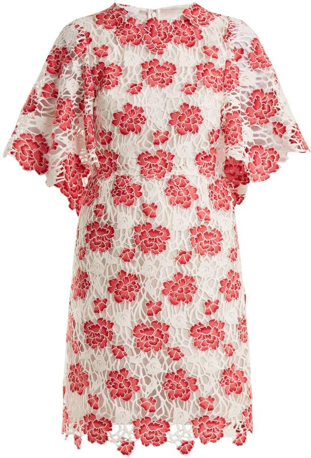 Giambattista Valli Floral guipure-lace dress