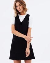 Miss Selfridge V-Neck Pocket Pinny Dress