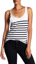 Pierre Balmain Stripe Detail Nautical Tank