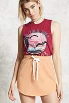 Forever 21 Knit Raw-Cut Mini Skirt