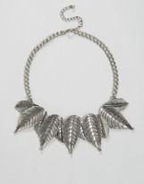 NY:LON Statement Leaf Detail Necklace
