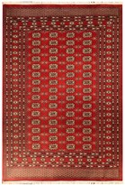 HRI Bokhara Collection Hand-Knotted Wool Area Rug - 6 x 9'