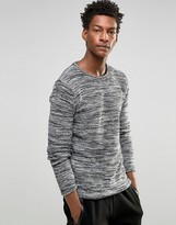 Solid !Solid !SOLID Knitted Sweater in Mixed Yarns
