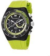 Technomarine Techno marine Men's Quartz Black Dial Chronograph Display and Green Silicone Strap 110019