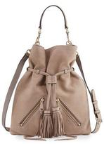 Rebecca Minkoff Large Moto Drawstring Crossbody Bag, Beige