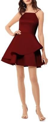 Betsy & Adam Satin Mini Dress