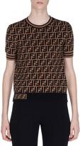 Fendi Crewneck Short-Sleeve FF Logo T-Shirt