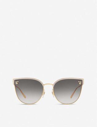 Cartier CT0198S Panth?re De metal acetate cat eye-frame sunglasses