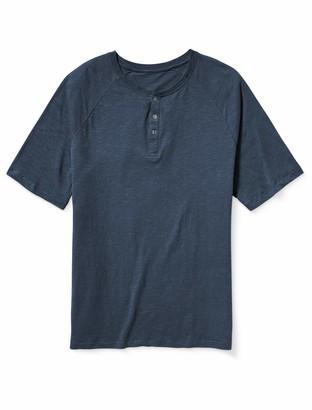 Amazon Essentials Men's Big-Tall Big & Tall Short-Sleeve Slub Henley T-Shirt Shirt