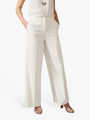 Phase Eight Raphaelle Wide Leg Suit Trouser, White