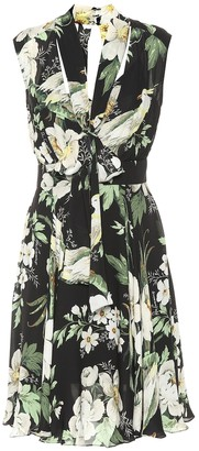Carolina Herrera Printed silk dress