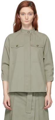 Sportmax Grey Gabardine Paco Jacket