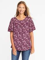 Old Navy Eyelet-Trim Swing Top for Women