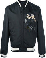 Dolce & Gabbana designer's patch bomber jacket - men - Polyester - 46